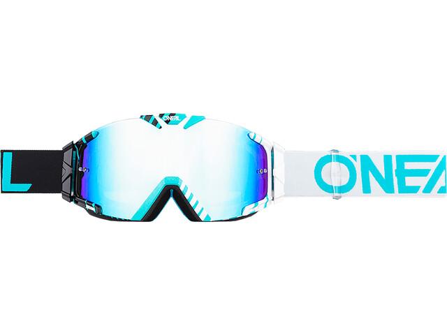 O'Neal B-30 Goggles, duplex black/white/teal-radium